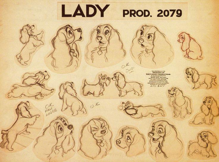 Lady de La belle et le clochard croquis