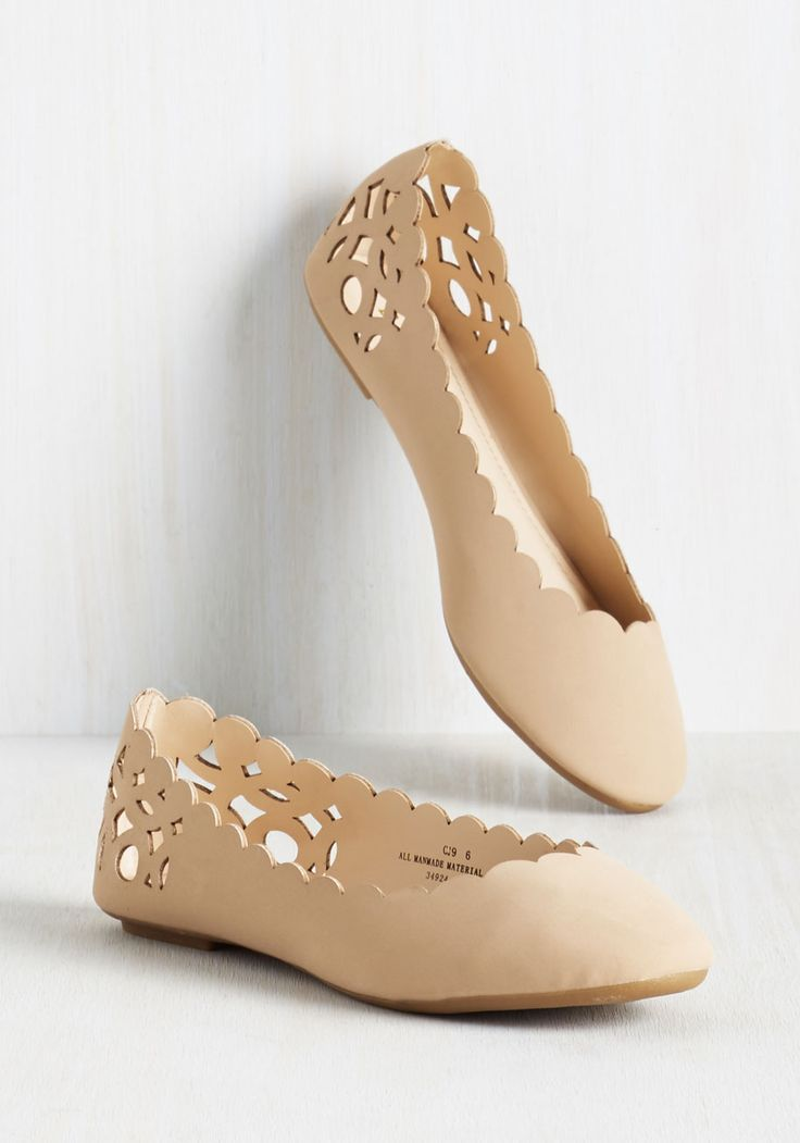 These lovely, laser-cut flats have halted your search for the perfect footwear - what luck! Enveloping your feet in their soft vegan faux suede, and boasting scalloped edging and a cutout design at the heels, these delicate, neutral flats are officially a cut above the rest.