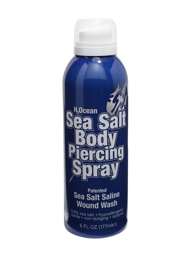 H2OCEAN SEA SALT BODY PIERCING SPRAY | H2Ocean Sea Salt Body Piercing Spray helps to cleanse all your piercings and body modifications. H2Ocean helps to safely remove dried discharge and lymph secretions when used every 3-4 hours on your piercings and body modifications.