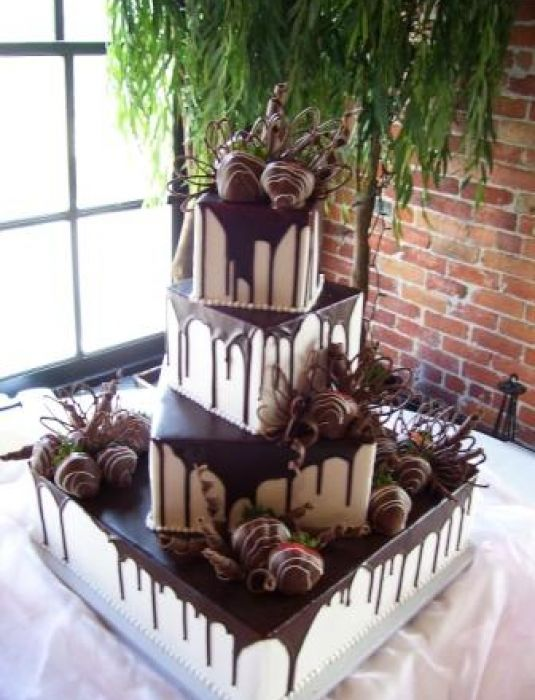 Chocolate Wedding Cake With Strawberries - Muscoreil's - square cake with chocolate covered strawberries ...