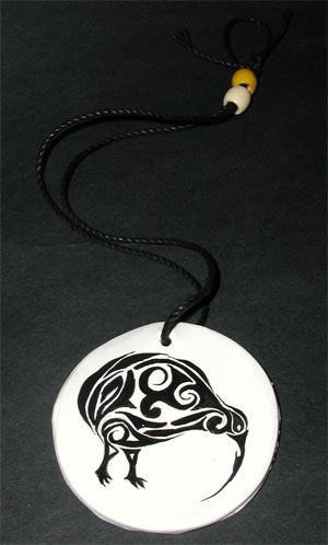 Maori necklace- New Zealand The only kind of bird I like.