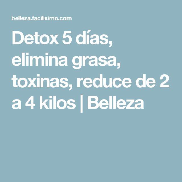 Detox 5 días, elimina grasa, toxinas, reduce de 2 a 4 kilos | Belleza
