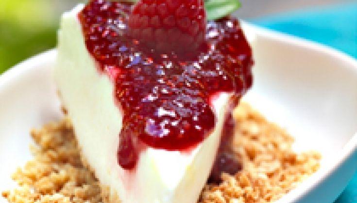Tarte gelada de iogurte e framboesa