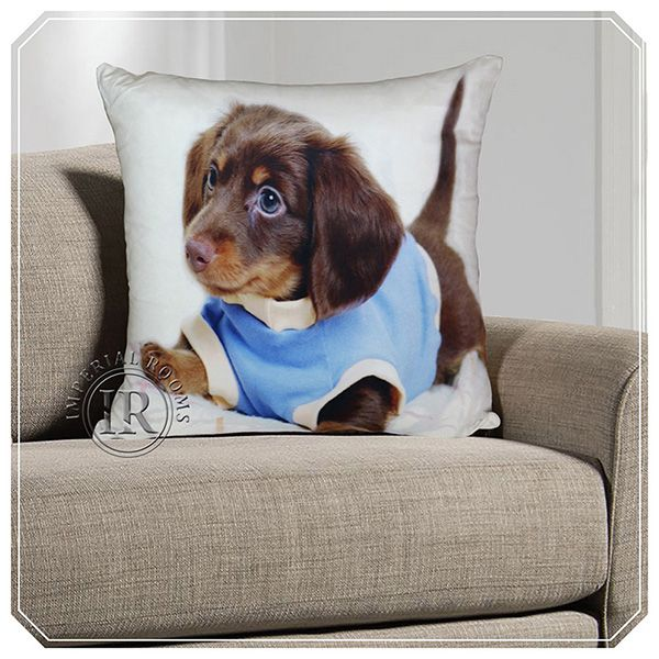 3D Animal Print Cushion Covers – Cute Puppy | Imperial Rooms