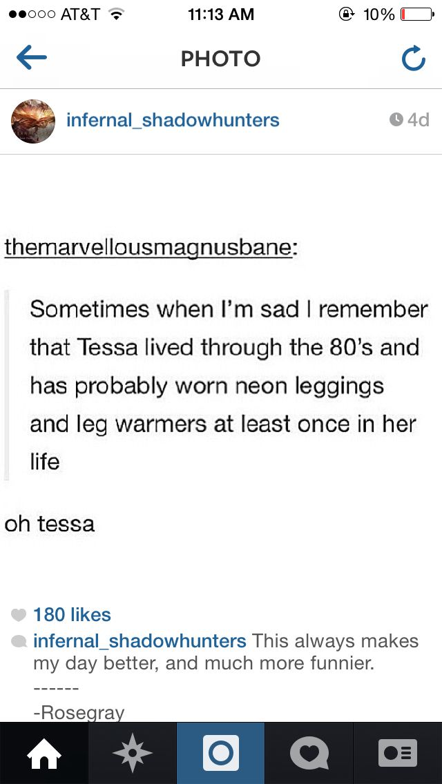 Oh Tessa! I should not have laughed that hard