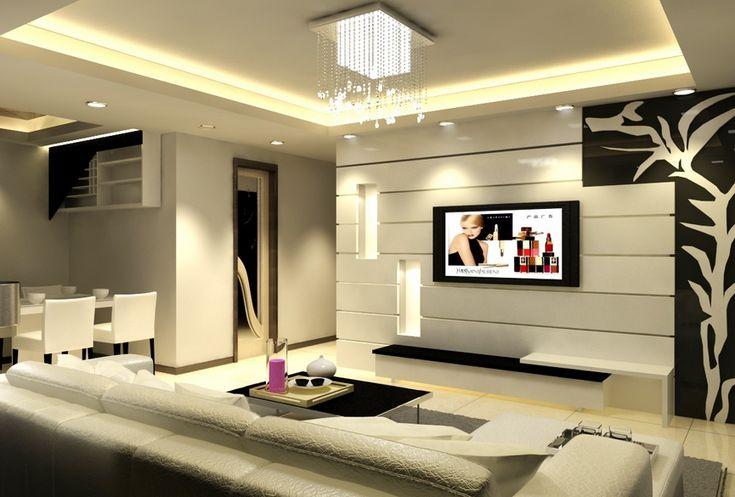 1000 ideas about tv wand gestalten on pinterest. Black Bedroom Furniture Sets. Home Design Ideas