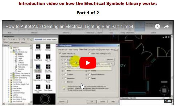 Part 1 Autocad Video Tutorial On How To Create An Electrical