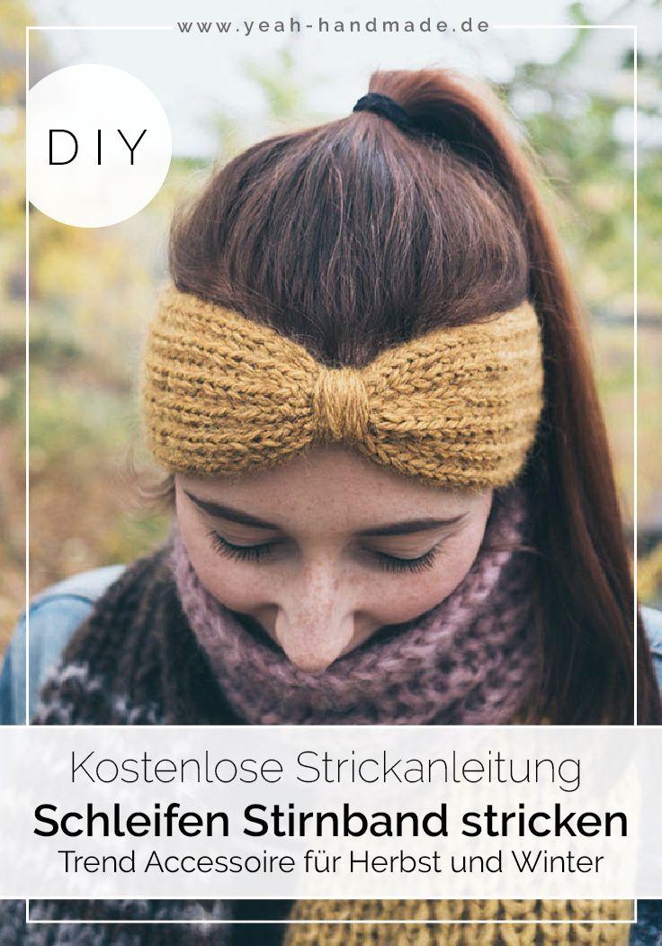 DIY Stirnband stricken: Schleife | DIY Ideen auf Deutsch | Stricken ...
