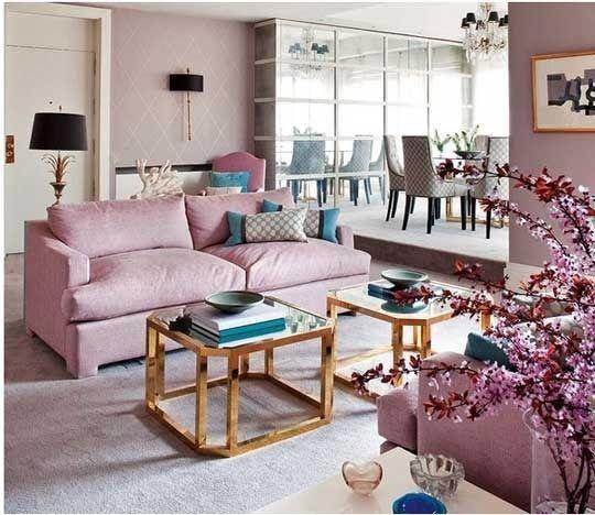 Lavender Living Room RoomsPink