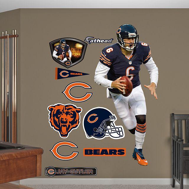 Jay Cutler   Running   Chicago Bears   NFL From Fathead.com Part 34