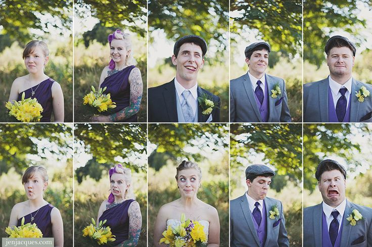 Wedding photos Funny faces wedding party © Jennifer Jacques » Blog » www.jenjacques.com