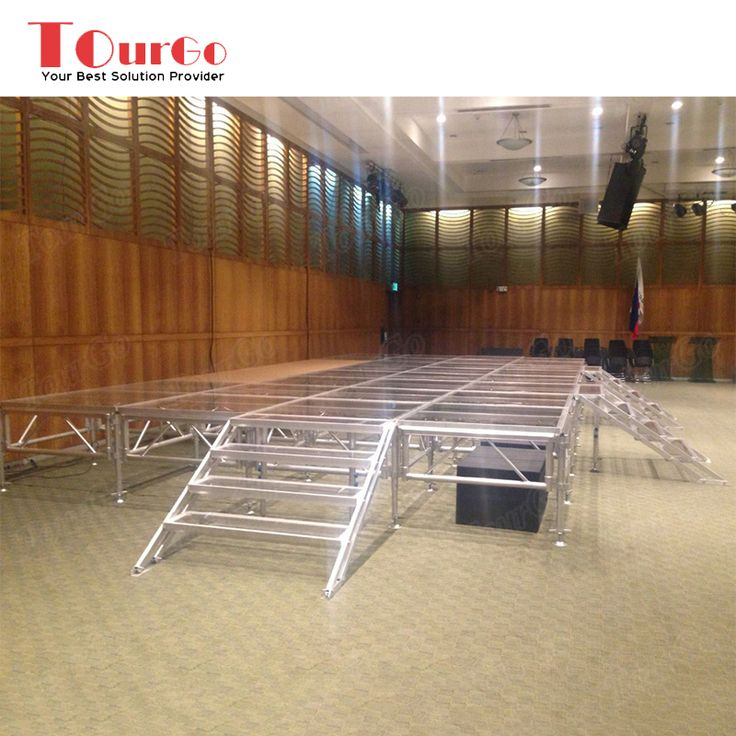 Indoor / Outdoor Concert Stage Design Aluminum Glass Stage Platform with Stairs for Sale - TourGo