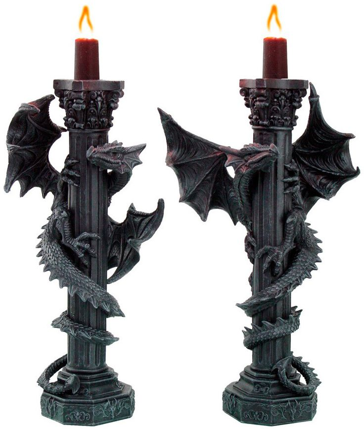 Candelabros Dragones #dragon #fantasy #fantasia #rock #metal #gotico #gothic #decoracion #decor #xtremonline