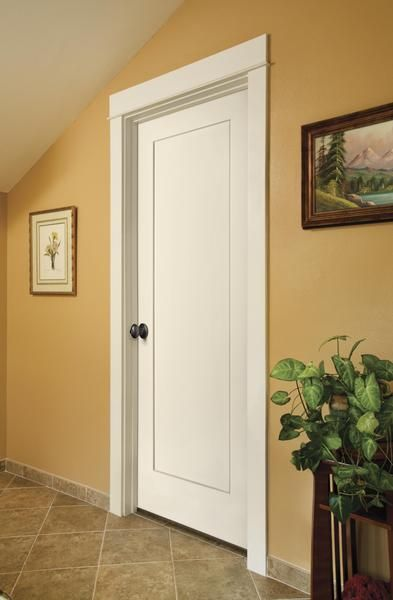 Clean and Contemporary Door - Simple Madison one-panel door design w/contemporary architectural styles Jeldwen