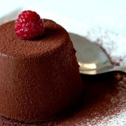 Chocolate Panna Cotta - The recipe with step by step instructions on how to make this classic Italian dessert.