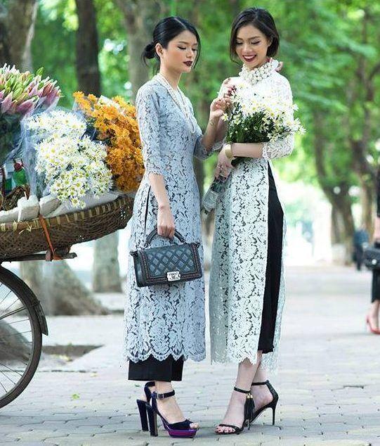 Muôn màu kiểu áo dài cách tân của các thương hiệu thời trang Việt
