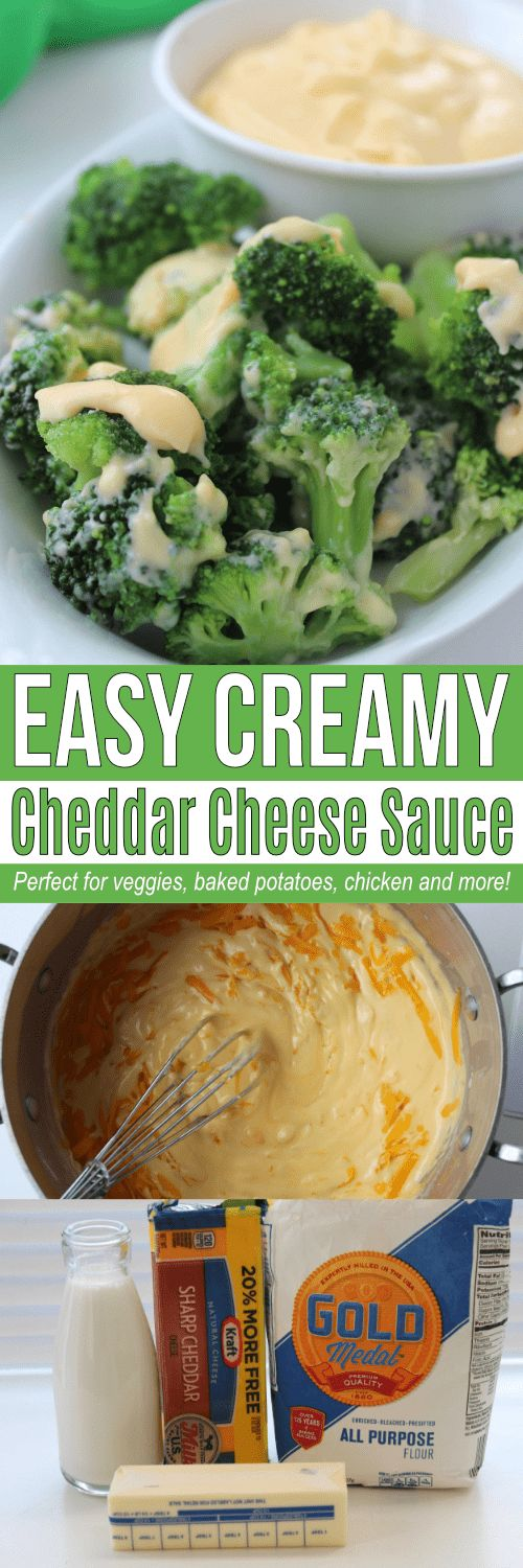 This broccoli cheese sauce recipe is easy to make and tastes great on cauliflower, potatoes, chicken any type of vegetable bake, or makes a simple cheese sauce for pasta. Use this whenever a recipe calls for a creamy cheese sauce!