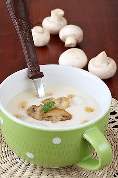 Bruselská žampionová polévka