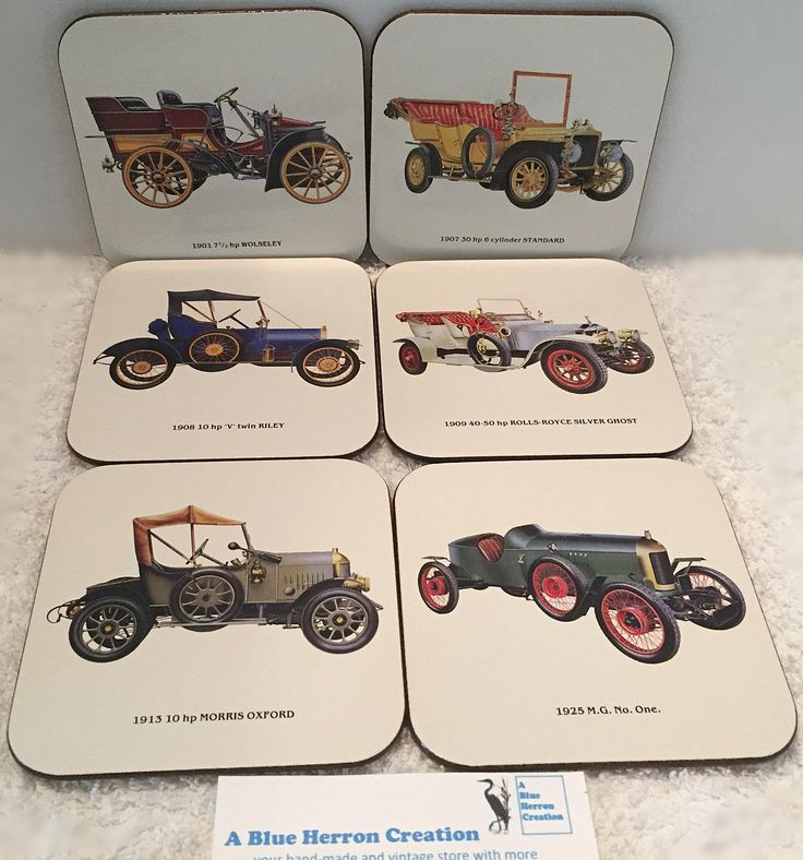 Vintage: Jason Coasters Designer Collection, Vintage Cars, RARE and Vintage Cars, Original Box by ABlueHerronCreation on Etsy