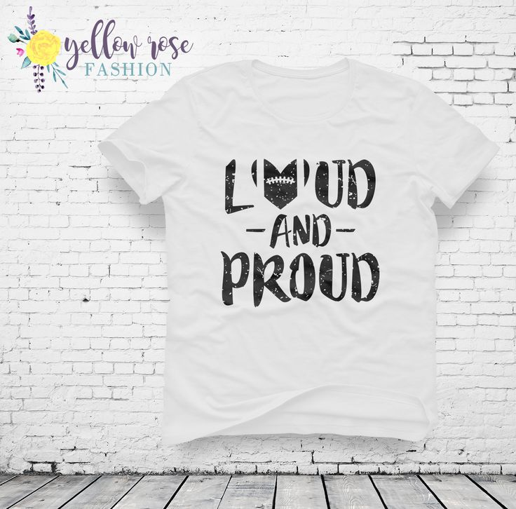 Loud and Proud - Women's Football Love Spirit Graphic Tee in White and Gray