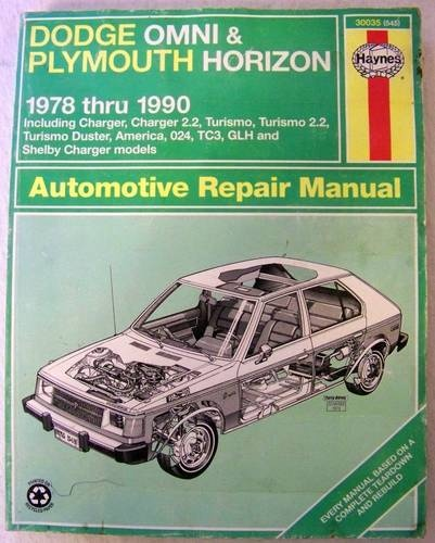 1978 - 1990 Haynes Manual Dodge Omni Plymouth Horizon Auto ...