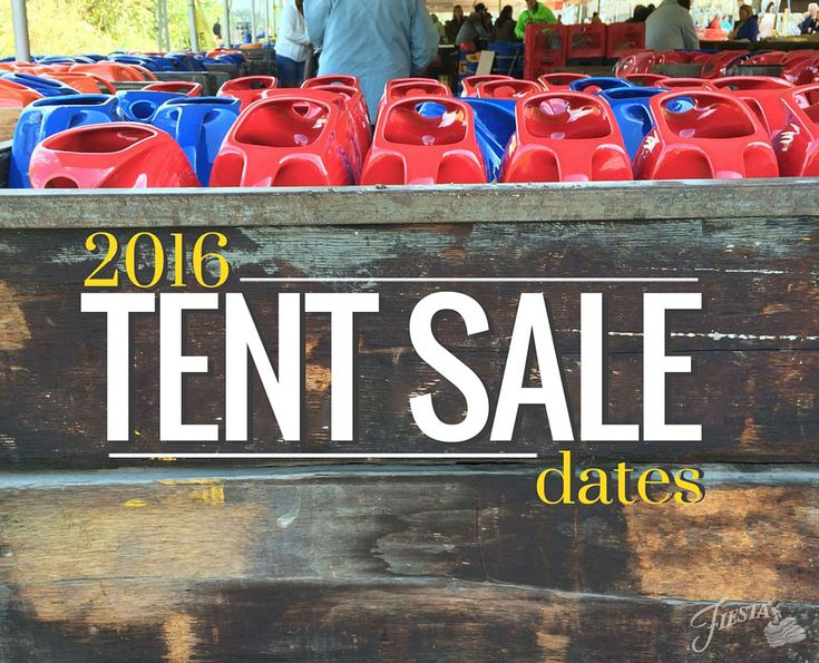 Get your planners out, because you won't want to miss these events! Below are the dates for our 2016 outdoor Tent Sales: March 31st - April 2nd @ Everything Fiesta - Flatwoods, WV June 16th - 19th @ Factory Retail Outlet - Newell, WV August 4th - 6th @ Everything Fiesta - Flatwoods, WV September…