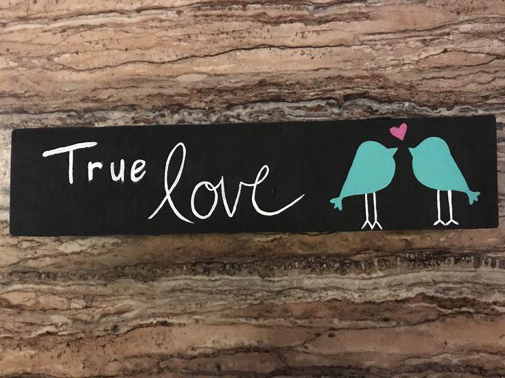 Woodsign. Home decor. Decor. DIY. Love birds. Birds. True love.