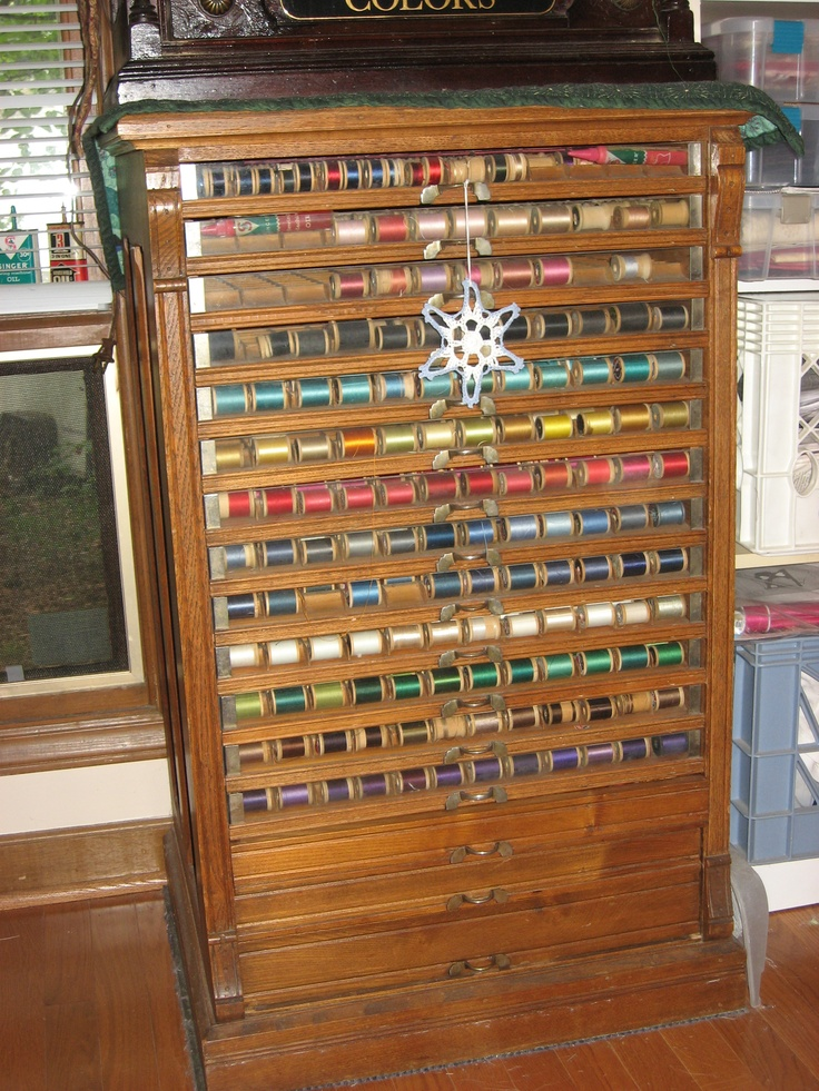 122 best Antique Spool/Thread Cabinets images on Pinterest ...