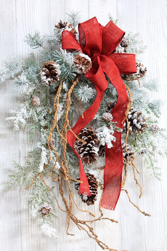 Ships Free Snowy Pinecone Winter Wreath Winter
