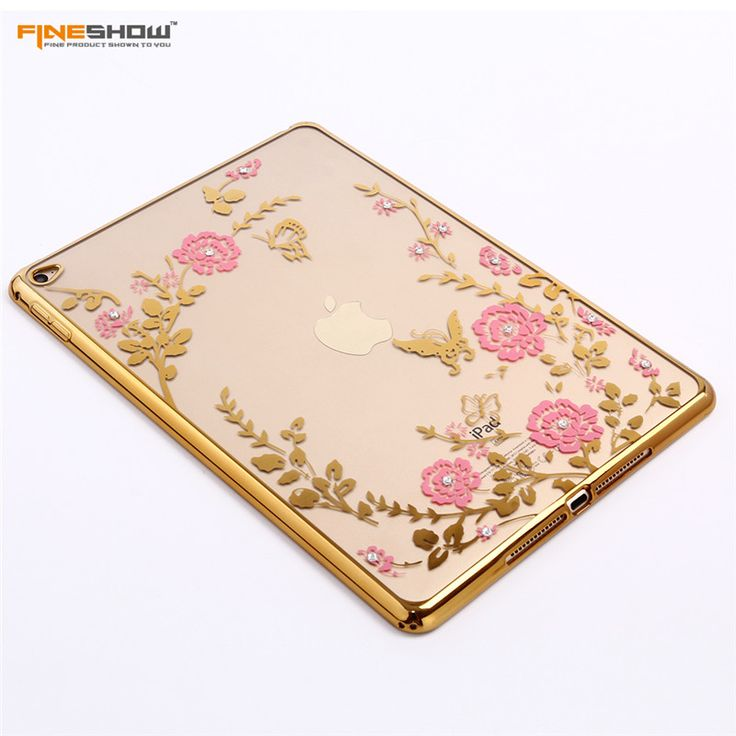 For iPad Air2 Case Fashion Plating Frame Secret Garden Flower for iPad 6 Tablet Case Diamond Soft TPU Protective Capa CL932 | iPhone Covers Online