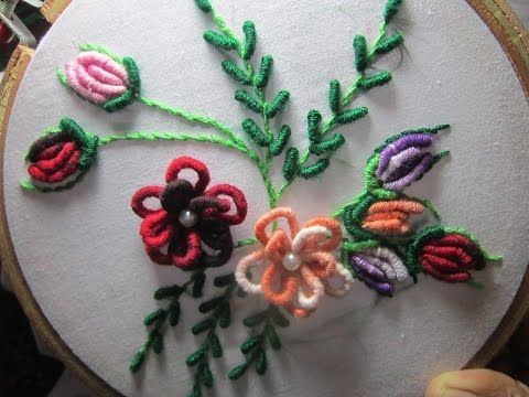 Hand Embroidery: Detached buttonhole stitch - YouTube