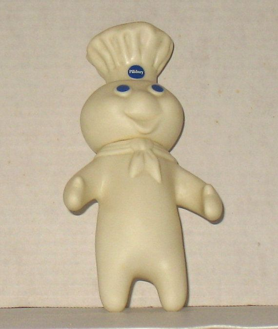 I had one of these ;) Vintage Pillsbury Dough Boy Vinyl Advertising Doll 1971 Marked by TPC
