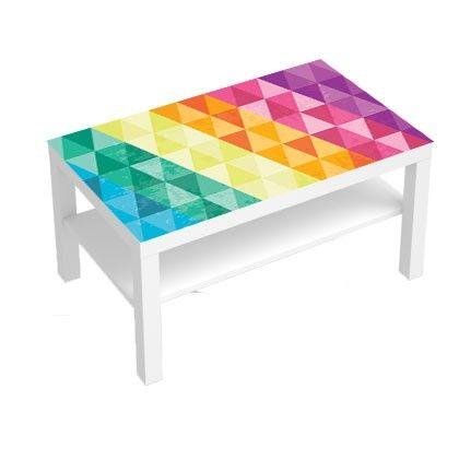 Stickers pour table basse lack 90x55 multi couleurs - Sticker pour meuble ...