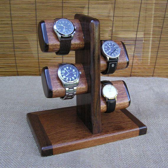 Watch Stand Mens Valet Watch Display Watch by OnondagaHillWoodwork