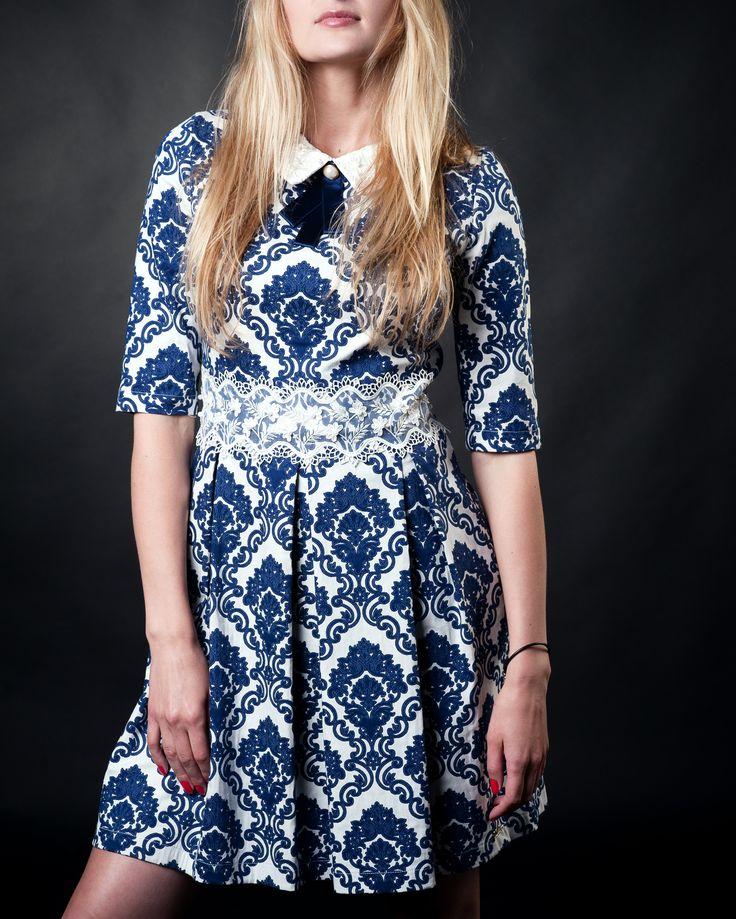 #darkbluedresses #gossipgirldresses #lacedresses #bowdresses #ornamentdresses #summerdresses #saledresses #pleateddresses #collar