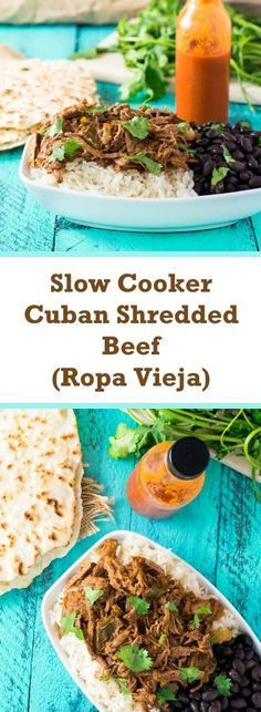Slow Cooker Cuban Shredded Beef Ropa Vieja Recipe