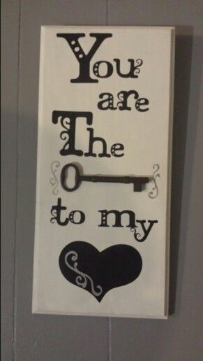 You are the key to my heart ♡