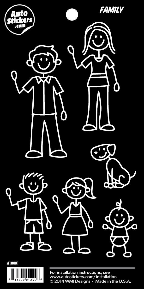 """Family Stickers - 4"""" x 8"""""""