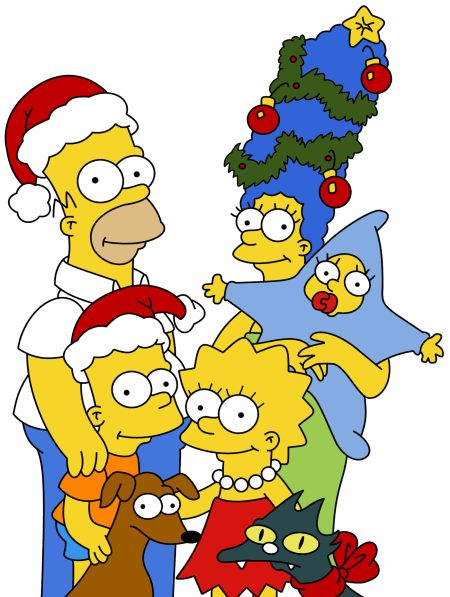 Merry Christmas, everybody! Yours truly, the Simpsons