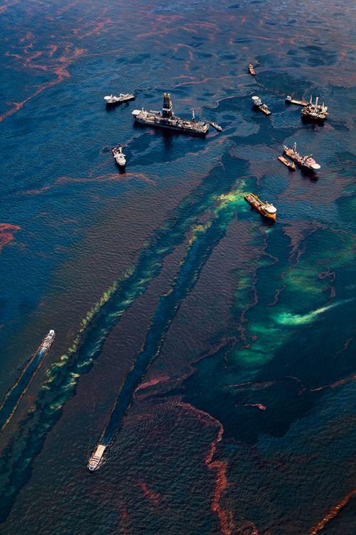 Este es un foto de derramas de petroleo. En el futuro el oceano sera contaminara y los animales moriran.