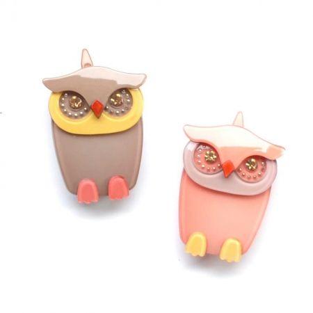 hello shiso - acrylic owl clip