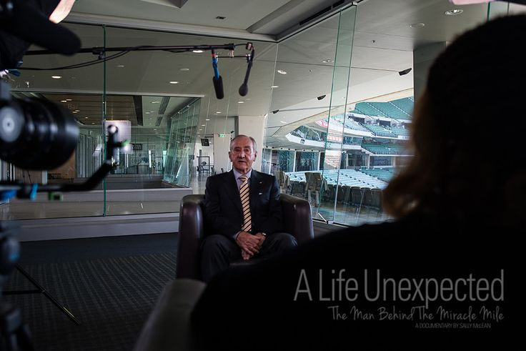 Geoff Henke AO during his interview at the MCG. Photo by Stefano Ferro.