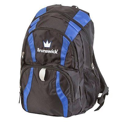 1 Ball 71094: Brunswick Crown Backpack Bowling Bag, Black Royal -> BUY IT NOW ONLY: $32.37 on eBay!