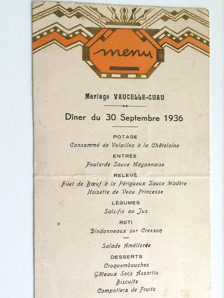 Les 98 meilleures images du tableau menus sur pinterest for Deco cuisine 1930