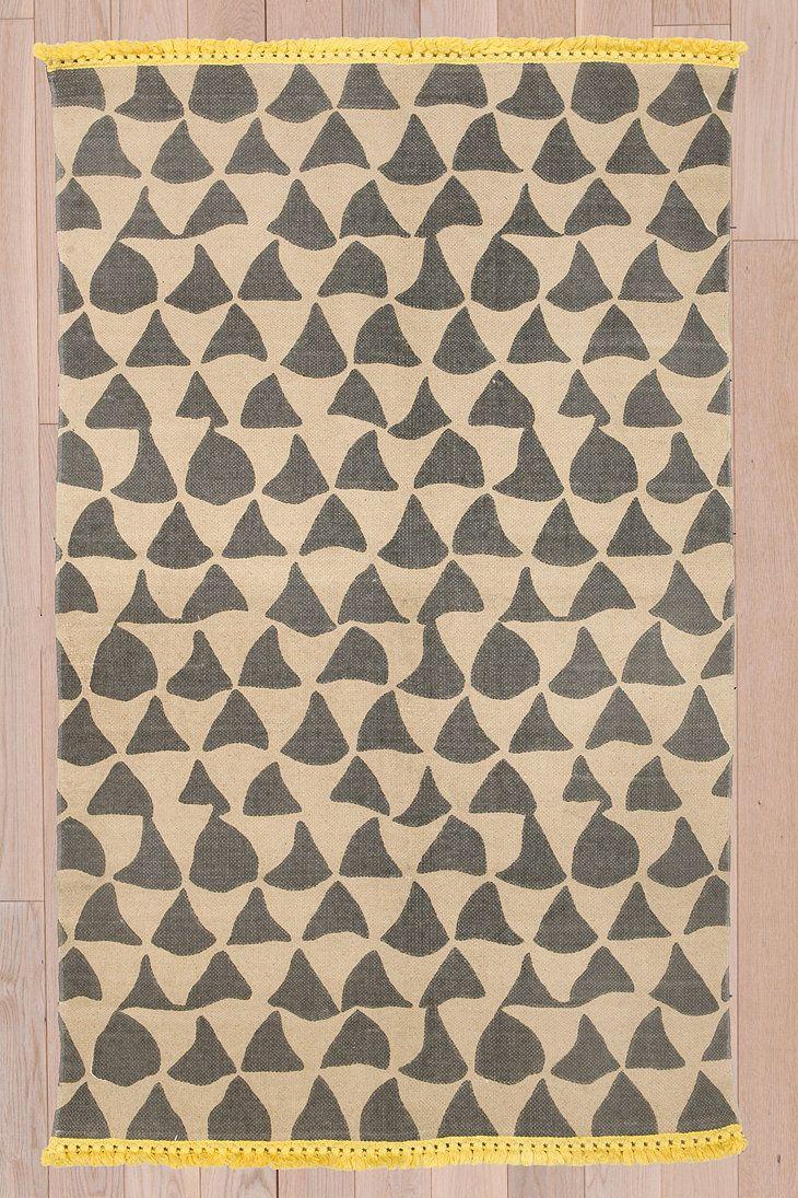 Wavy Triangle 3x5 Rug in Grey | n i d | Pinterest