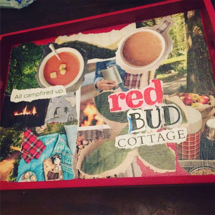 Handmade Collage Tray Handmade Collage Red Bud Handmade