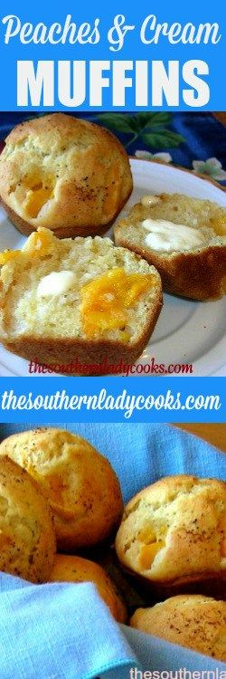 Peaches and Cream Muffins are so good and so easy to make. You can use either canned peaches or fresh peaches in this recipe.  Add some butter or preserves for a real treat at breakfast …