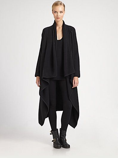 Donna Karan - Boiled Cashmere Drop Coat - Saks.com