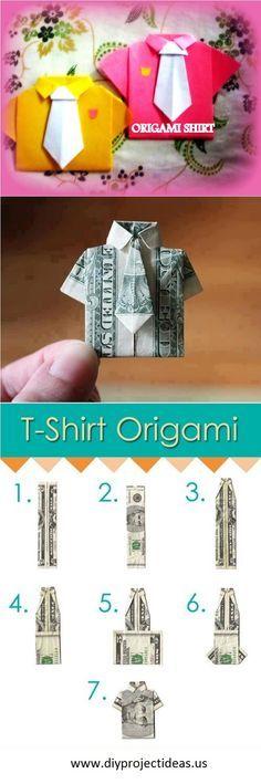 Origamis: tuto t-shirt