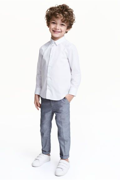 Suit trousers - Dark blue marl - Kids | H&M CA